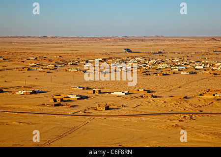 Aerial view of Karima, Northern Sudan, Africa - Stock Photo
