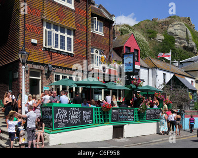 The Dolphin Pub, Hastings Old Town, East Sussex, England, UK, GB - Stock Photo