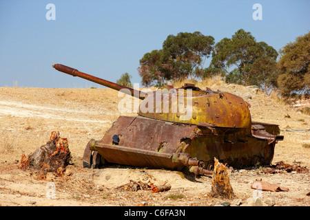 Old tank, Eritrea, Africa - Stock Photo