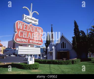 Candlelight Wedding Chapel, Las Vegas Boulevard, Las Vegas, Nevada, United States of America - Stock Photo