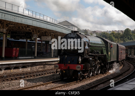 The Cathedrals Express passing through Bristol Temple Meads Station, Bristol, England, UK - Stock Photo