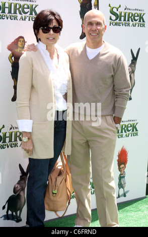 Producer Jeffrey and Marilyn Katzenberg arrives at the Los Angeles Premiere 'Shrek Forever After' at Gibson Amphitheatre - Stock Photo