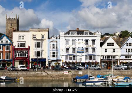 The Royal Castle Hotel in Dartmouth Devon - Stock Photo