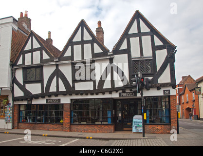 Prezzos in an Historic Building in High Street, Salisbury, Wiltshire, England - Stock Photo