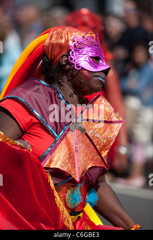 Dancer at the Notting Hill Carnival 2011, London , England. - Stock Photo