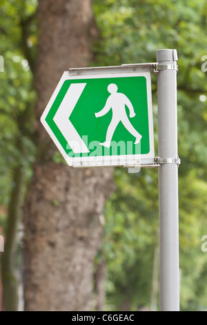 Public Footpath sign, uk - Stock Photo
