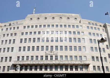 BBC Broadcasting House headquarters of the BBC in Portland Place London England UK - Stock Photo