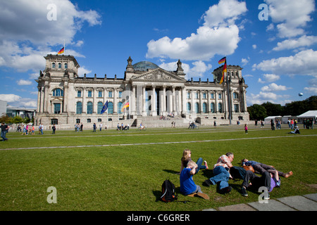 Reichstag Berlin Germany - Stock Photo