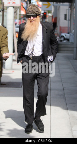 Billy Gibbons of American rock band 'ZZ Top' was spotted leaving 'Ketchup' after having lunch with a friend in West - Stock Photo