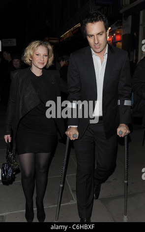Joanna Page 'Love Never Dies' World Premiere at the Adelphi Theatre - Outside Arrivals London, England - 09.03.10 - Stock Photo