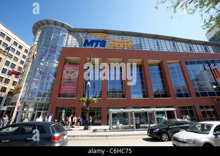 mts centre on portage avenue downtown winnipeg manitoba canada - Stock Photo