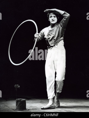 MARCEL MARCEAU (1923-2007) French actor and mime artist - Stock Photo