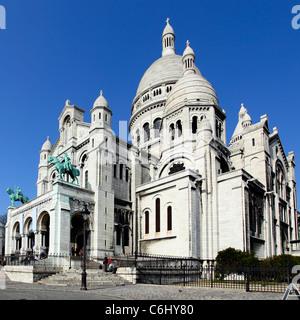 Sacre Coeur Basilica close-up, Paris, France. - Stock Photo