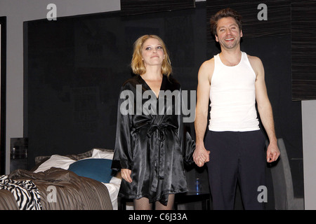 Stefanie Frame and Michael Weston Opening night of the Off-Broadway ...