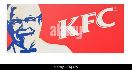 Kentucky Fried Chicken KFC Sign - Stock Photo