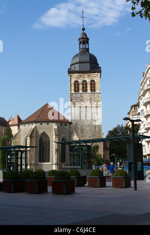 Church of St Maurice in Annecy in France - Stock Photo