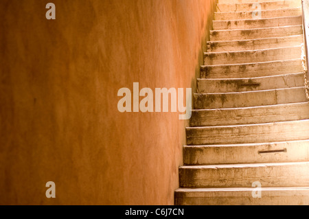 Set of stone stairs in Venice, Veneto Italy - Stock Photo