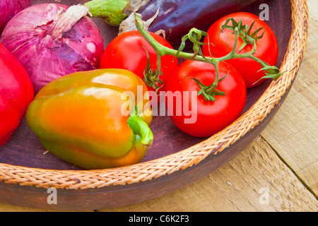 Close up image of mixed fresh vegetables - Stock Photo