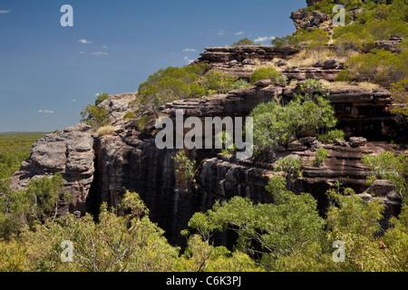 Burrunggui (often wrongly called Nourlangie Rock), Kakadu National Park, Northern Territory, Australia - Stock Photo
