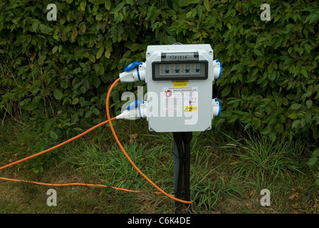 ... C&ing electrical hook up point - Stock Photo & Camping electric hook-up point Stock Photo Royalty Free Image ...