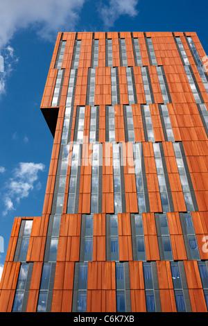 Broadcasting Tower, Leeds. Designed by Feilden Clegg Bradley, it is part of Leeds Met University - Stock Photo
