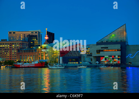 Inner Harbor, Baltimore, Maryland, USA - Stock Photo