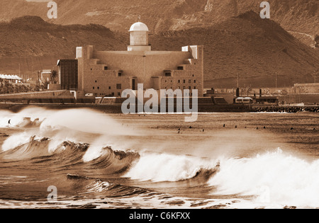 Surfing near alfredo kraus auditorio la cicer playa de las stock photo 27722087 alamy - Alfredo kraus auditorio ...