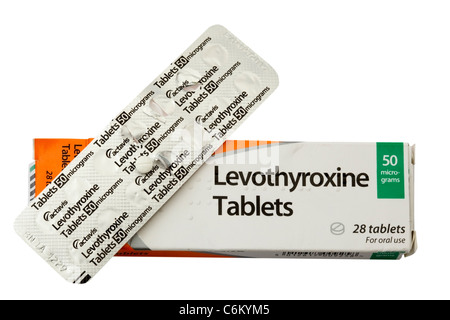 Levothyroxine tablets - Stock Photo