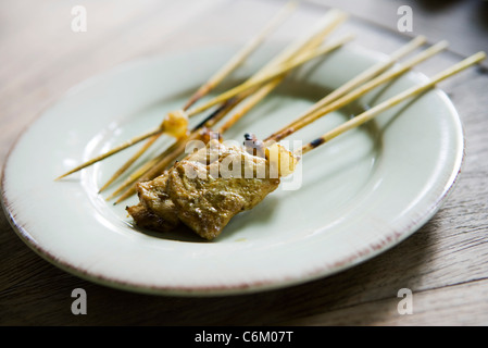 Satay pork skewer - Stock Photo
