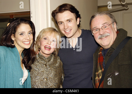 Elena Shaddow, Florence Henderson, James Snyder, and Fred Applegate Florence Henderson visits the cast of the Encores! - Stock Photo