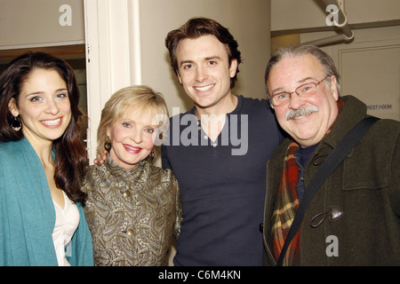 Elena Shaddow, Florence Henderson, James Snyder and Fred Applegate Florence Henderson visits the cast of the Encores! - Stock Photo