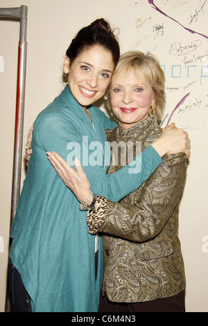 Elena Shaddow and Florence Henderson Florence Henderson visits the cast of the Encores! musical 'Fanny' held at - Stock Photo