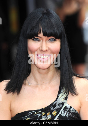Linzi Stoppard The Expendables - UK film premiere held at the Odeon Leicester Square - Arrivals London, England - Stock Photo