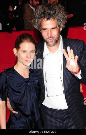 Christoph Schlingensief and wife Aino Laberenz 60th Berlin International Film Festival (Berlinale) - Opening Night - Stock Photo