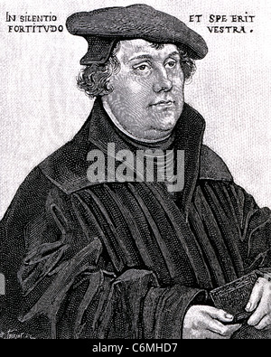 MARTIN LUTHER (1483-1546) German Protestant theologian about 1533 - Stock Photo