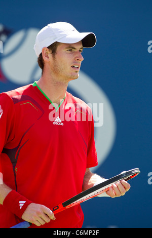 Andy Murray (GBR) competing at the 2011 US Open Tennis. - Stock Photo