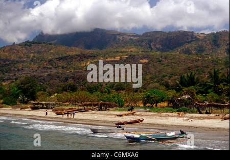 Approaching Atauro Island, off Dili, East Timor - Stock Photo