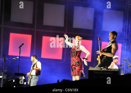 Ana Matronic of the Scissor Sisters perform at the Isle of MTV Malta Special 2010 Floriana, Malta - 30.06.10 - Stock Photo