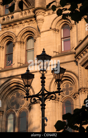 Architectural detail of Manchester Town Hall, Albert Square. - Stock Photo