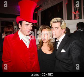 Sebastian Horsley, Batsheva Lazarus and Dickon Edwards 'Dandy in the Underworld' held at Quintessentially London, - Stock Photo