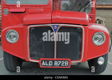Close Up detail of London Routemaster bus RM 1872 - Stock Photo