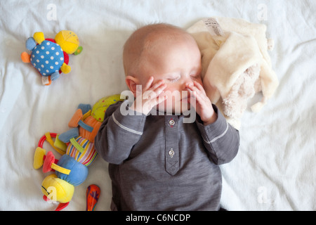 8 Month old baby boy sleeping. Photo:Jeff Gilbert - Stock Photo