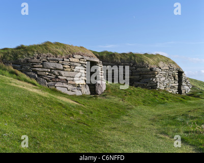 dh Knap of Howar PAPA WESTRAY ORKNEY Two Bronze age neolithic houses settlement ancient uk sites house neolithic - Stock Photo