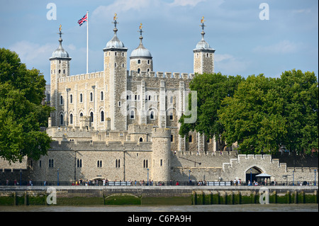 White Tower of Her Majesty's Royal Palace and Fortress -- the Tower of London - Stock Photo