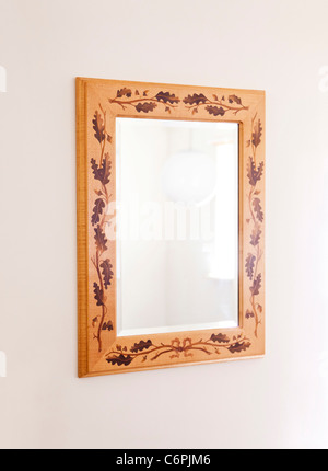 marquetry / marqueterie decorated mirror frame - Stock Photo