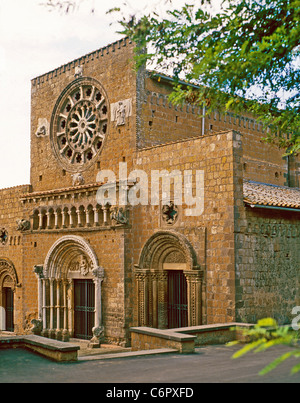The church of Santa Maria in Tuscania in the province of Viterbo.(XII century) - Stock Photo