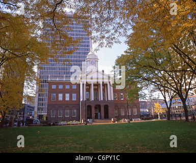Old State House in fall, Hartford, Connecticut, United States of America - Stock Photo