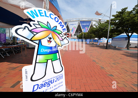 General view of stadium for the 13th IAAF World Championships in Athletics. - Stock Photo