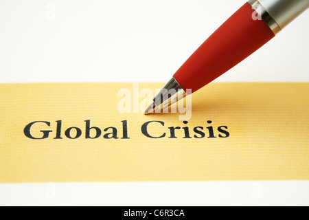 Global crisis - Stock Photo