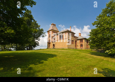 hudson river painter frederic edwin church home olana state historic stock photo royalty free. Black Bedroom Furniture Sets. Home Design Ideas